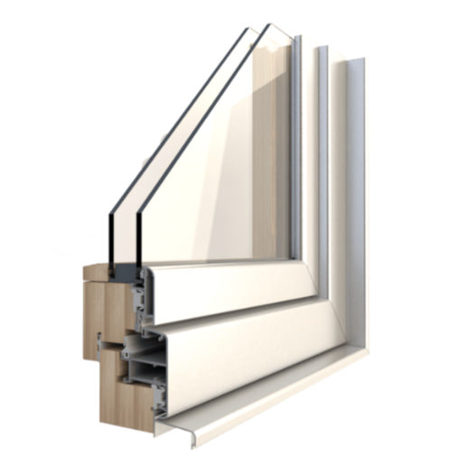 Aluminium and wood windows